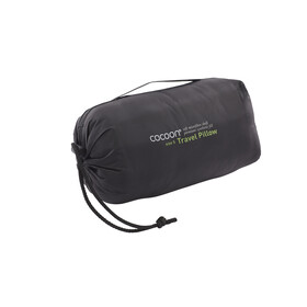 Cocoon Travel Pillow Microfiber/Nylon Shell Synthetic Fill Small charcoal/smoke grey